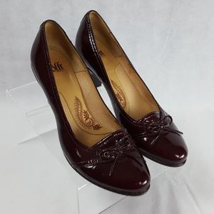 Sofft Size 10 High Heel Patent Leather Maroon Pump